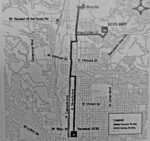 A map of the proposed changes to the Mountain Metro bus system Megan Lunsford | The Scribe