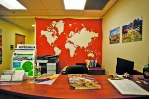 The front desk of the UCCS Global Engagement Office. Megan Lunsford | The Scribe