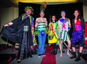 The Anacondoms showcase their piece. Megan Lunsford | The Scribe
