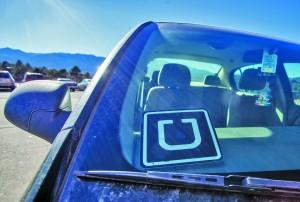 The identifying Uber logo featured in Nedd's car. Megan Lunsford | The Scribe