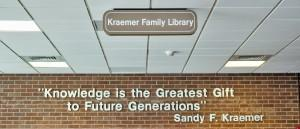 A quote from the library namesake above the entrance to the library. Ben Patzer | The Scribe