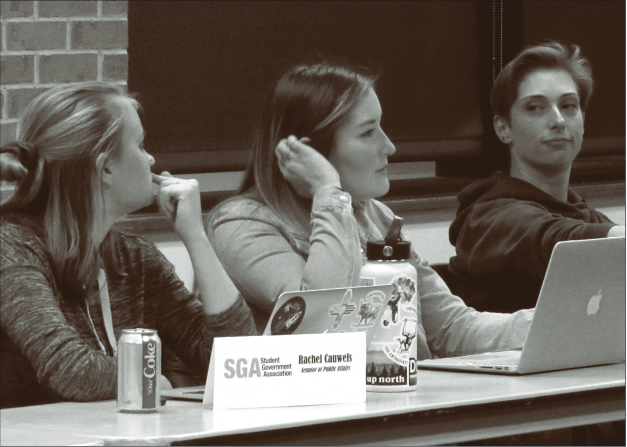 SGA members discuss new Instagram coverage for UCCS and faculty Fridays. (Jack Lusk|The Scribe)
