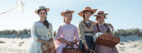 "Watson, Ronana, Pugh, and Scanlen in ""Little Women."" (Columbia Pictures)"