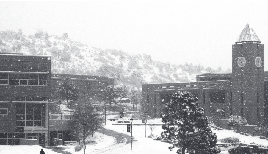 UCCS was closed on Feb. 18 due to weather conditions. (Alex Morgan|The Scribe